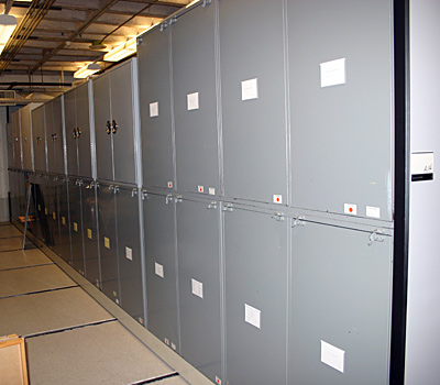 A bank of cabinets in the Natural History Collections Room