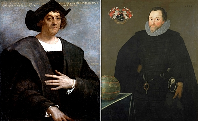 The fourth voyage of Christopher Columbus (left) to the Americas in 1502 came to a disastrous end when all his ships sank because of damage from these clams. In 1579, Sir Francis Drake (right), the famous English pirate/explorer/Vice Admiral spent a month on the Californian coast repairing the Golden Hind, which had been eaten by shipworms.