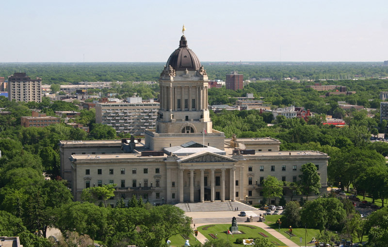 The Manitoba Legislative Building (photo by Jeff Young)
