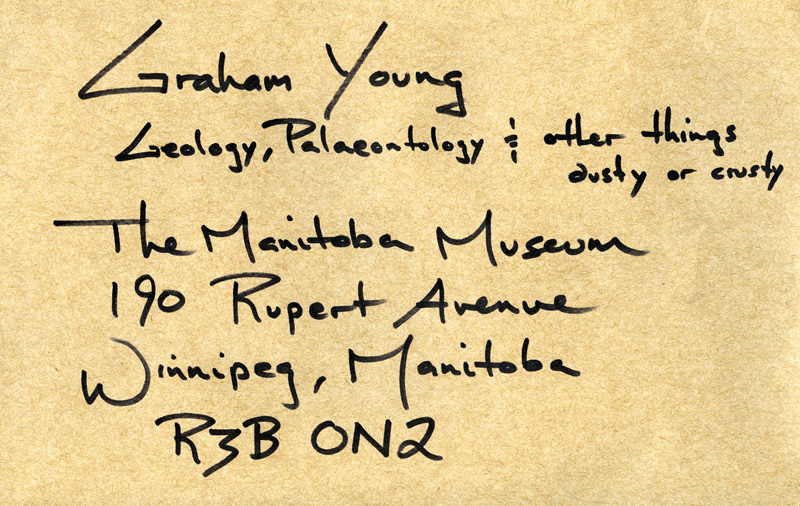 One way of looking at my job, according to an envelope received from a curator at another provincial museum