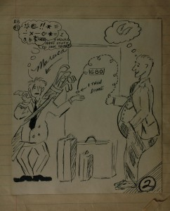 """One Thin Dime"" sketch by Joe Maruca"