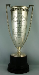 The Cauliflower Champion trophy Klaas de Jong won in 1926 in Cleveland, Ohio. Copyright The Manitoba Museum.