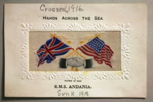 The RMS Andania was a passenger ship that was used to transport Canadian soldiers to Europe. In 1917 it returned to passenger service, but was torpedoed by a German submarine in 1918. The continued destruction of passenger ships by the Germans infuriated the Americans and the British and strengthened their resolve in the final days of the war.
