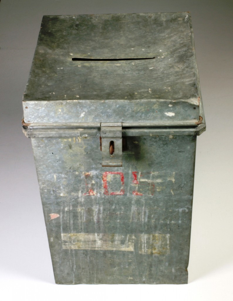 Ballot Box, Minnedosa, MB. H9-21-72. Copyright The Manitoba Museum.