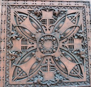 This decorative element was designed by the famous Louis Sullivan for the Eli B. Felsenthal Store, Chicago, 1905.
