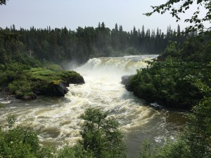 Pisew Falls is gorgeous and serene.