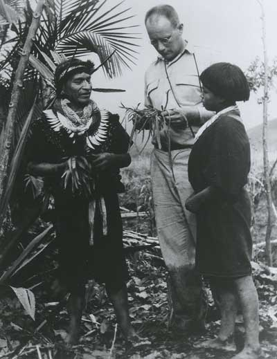 Dr. Richard Evan Schultes in the Amazon. Public domain, via Wikimedia Commons.