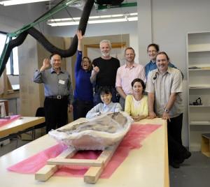 Success! L-R, front: Tamaki Sato, Stephanie Whitehouse; back: Xiao-Chun Wu, Janis Klapecki, me, Roland Sawatzky, Amelia Fay, Kevin Brownlee (photo by Xiao-Chun Wu).