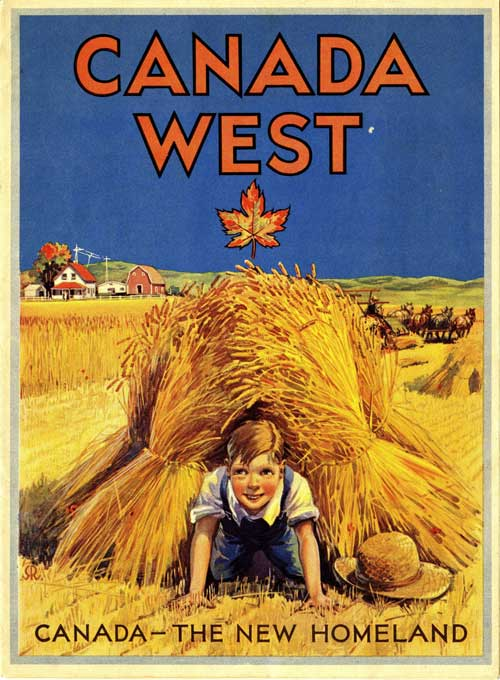 The Canadian Government tried to lure European settlers to the prairies with posters such as this one.
