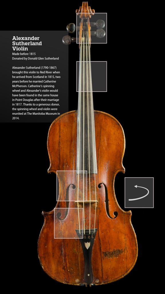 Screen shot of the Alexander Sutherland Violin.