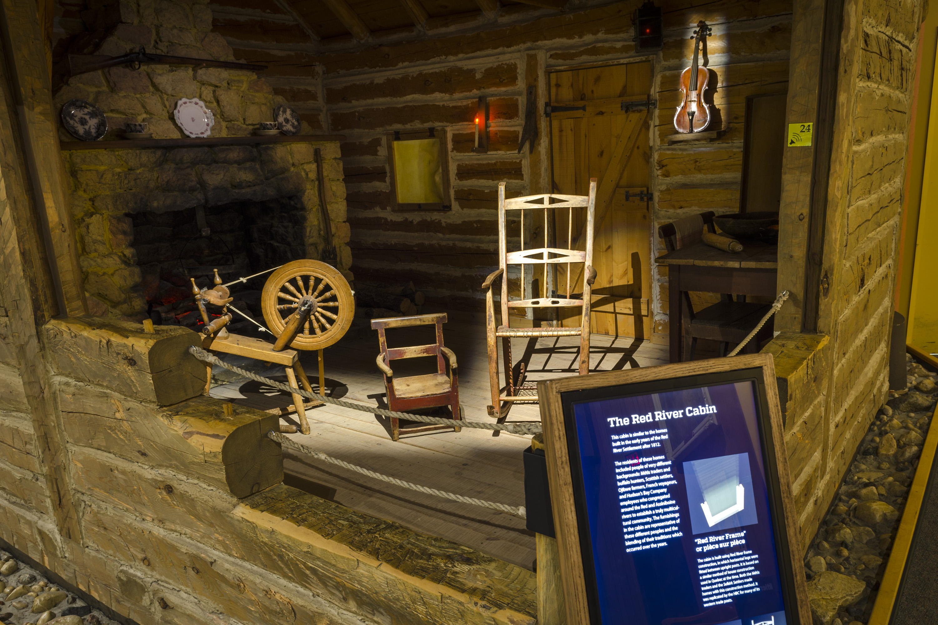 Marvelous photograph of The Log Cabin exhibit after renewal. The Log Cabin represents the  with #614A1C color and 3000x2000 pixels