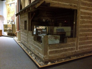 The Log Cabin exhibit before changes.