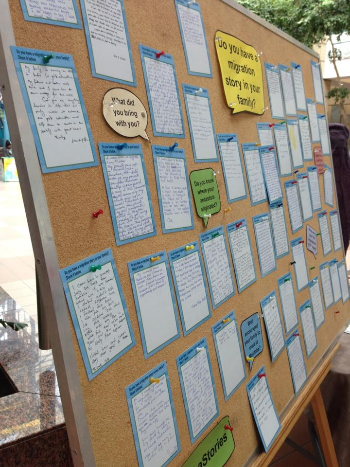 Story board at Portage Place.