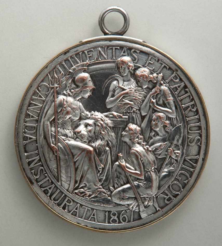 Confederation Medal (reverse), 1869. H9-37-134. Copyright The Manitoba Museum.