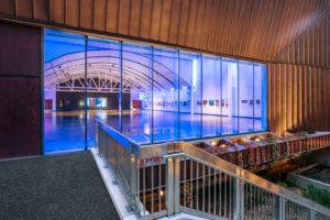 glass event room entrance