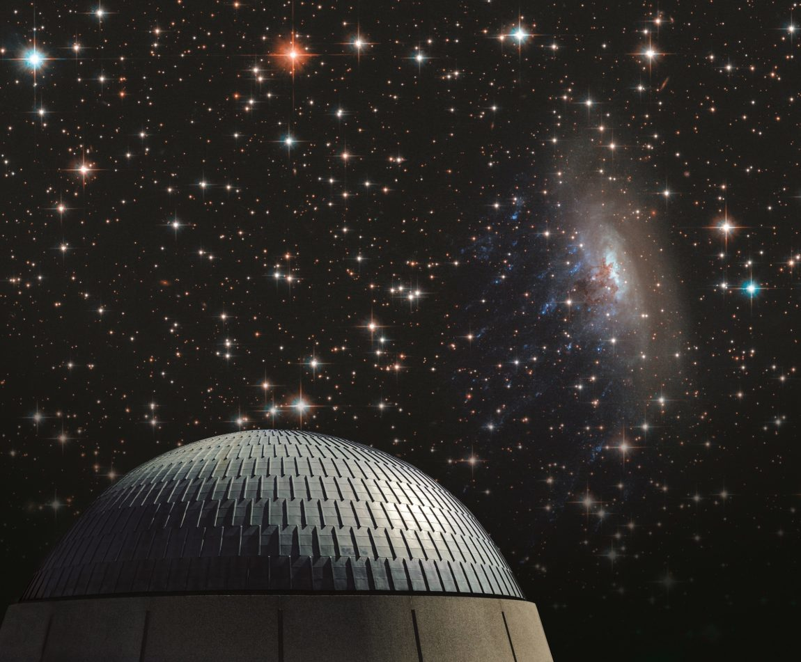 Planetarium and stars