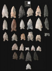 Stone Spear Points likely used with an atlatl