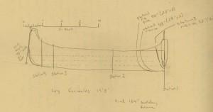 Sketch of canoe design