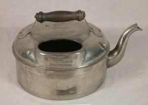 This kettle is one of the artefacts in the Sod Hut