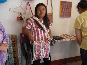 This local weaver made 130 of these bags for conference participants