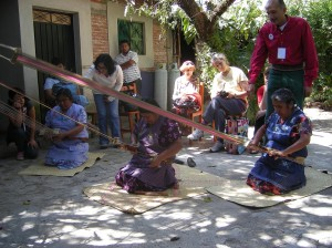 The traditional weavers showed us their technique