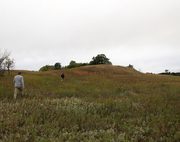 Calf Mountain, near Morden, is an ancient burial mound.