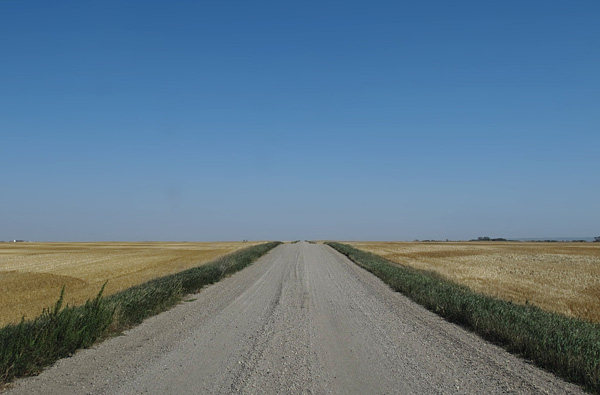 The endless horizon in western Manitoba