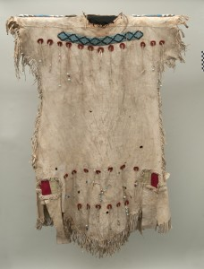 Ch.2: Plains hide dress, attributed to the collection of Sir George Simpson, TMM HBC 2265.